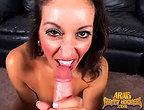 Strict arab girl is giving head before pounded by american cock